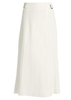 Proenza Schouler Flared tie-waist crepe skirt