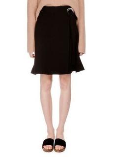 Proenza Schouler Flared Wool Crepe Skirt