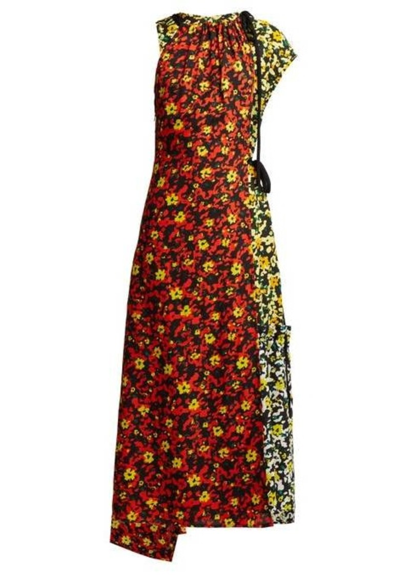 Proenza Schouler Floral asymmetric midi dress