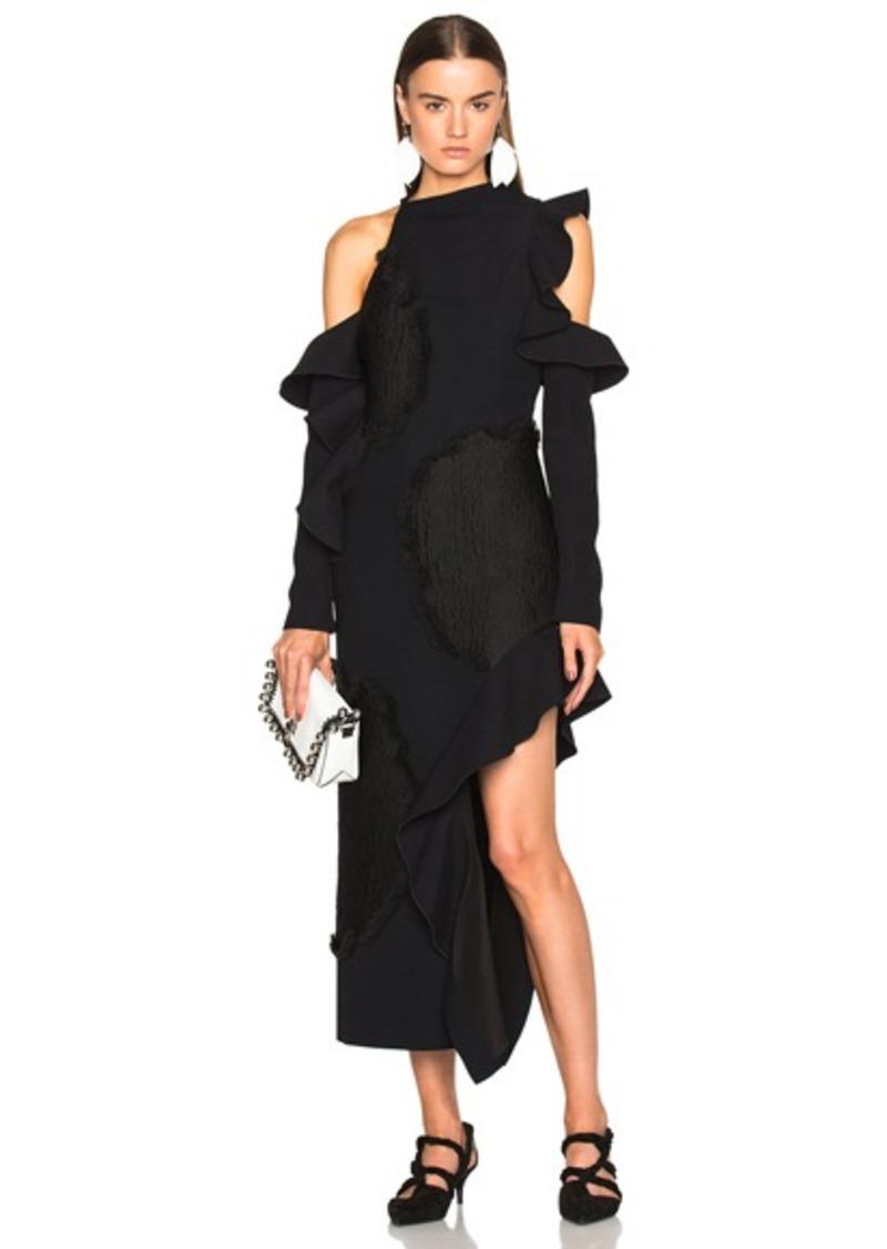Proenza Schouler Floral Fil Coupe Cut Out Dress