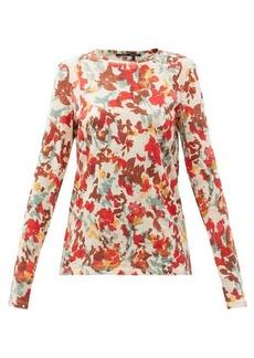 Proenza Schouler Floral-print cotton-jersey long-sleeved T-shirt