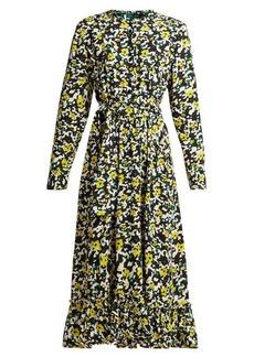 Proenza Schouler Floral-print crepe midi dress