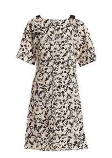 Proenza Schouler Floral-print cross-over silk dress