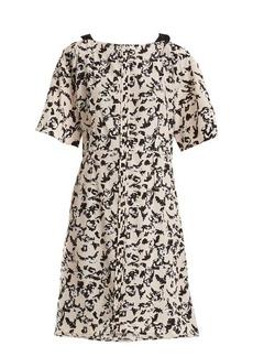 Proenza Schouler Floral-print cross-over silk dress