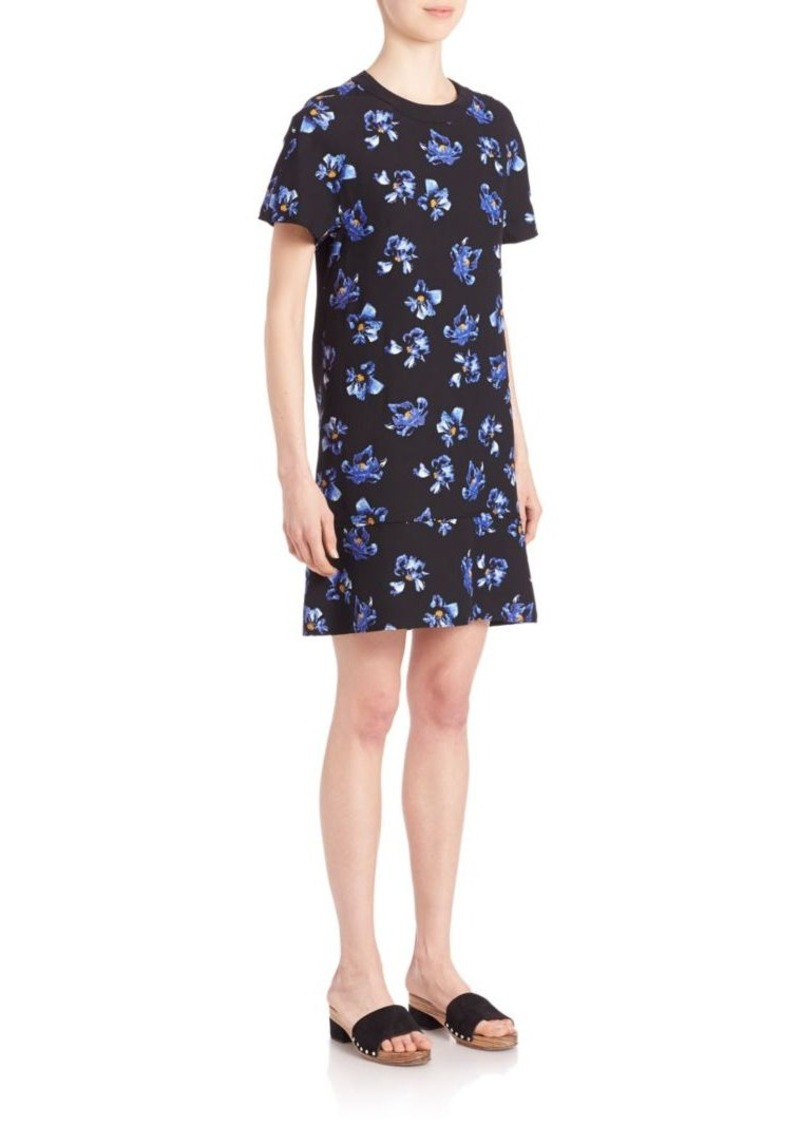 Proenza Schouler Floral Print Georgette Shift Dress
