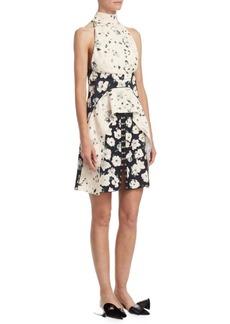 Proenza Schouler Floral-Print Peplum Dress