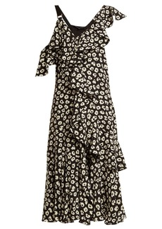 Proenza Schouler Floral-print silk-crepe midi dress