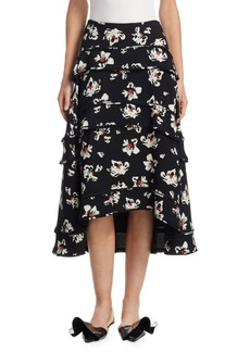 Proenza Schouler Floral-Print Skirt