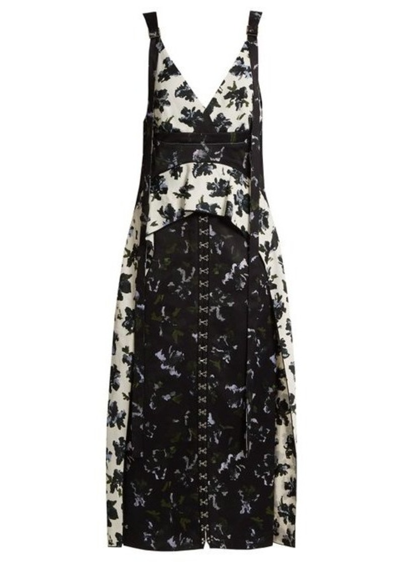 Proenza Schouler Floral-print V-neck dress