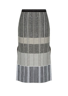 Proenza Schouler Geometric-knit wool skirt