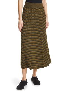 Proenza Schouler Geometric Rib Silk Blend Skirt