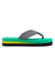Proenza Schouler Geometric woven flip-flops