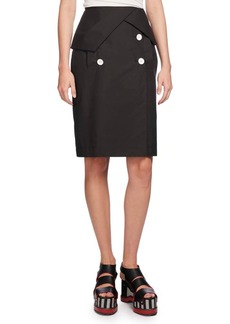 Proenza Schouler Heavy Poplin Pencil Skirt