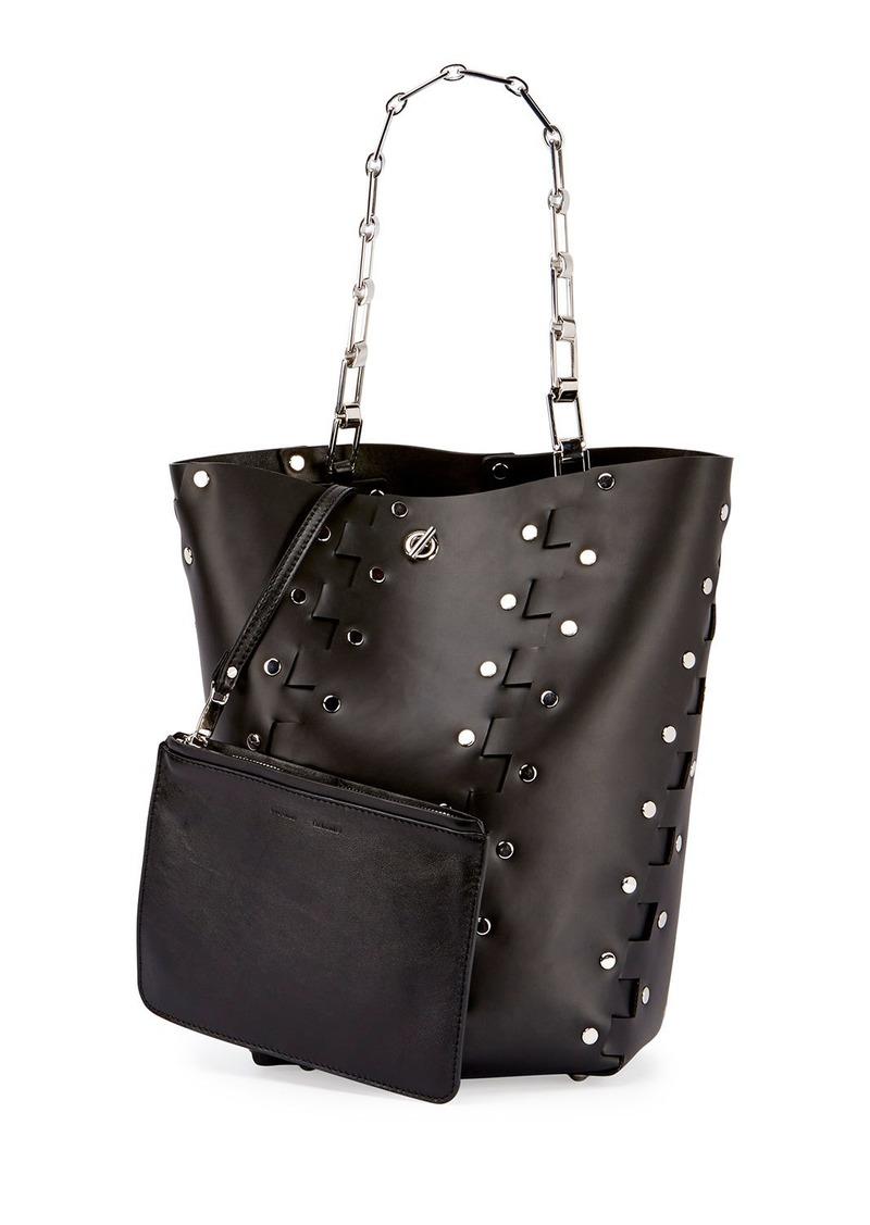 Proenza Schouler Hex Medium Studded Leather Bucket Bag
