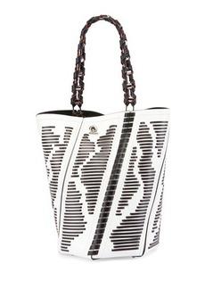 Proenza Schouler Hex Medium Woven Leather Bucket Bag
