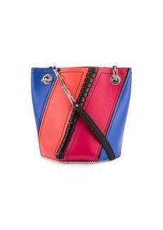 Proenza Schouler Hex Mini Colorblock Leather Bucket Bag
