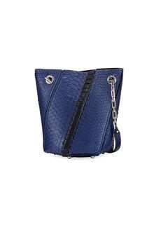 Proenza Schouler Hex Mini Python Whipstitch Bucket Bag