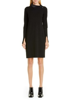 Proenza Schouler High Neck Long Sleeve Sweater Dress