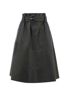 Proenza Schouler PSWL High-rise belted nappa-leather skirt