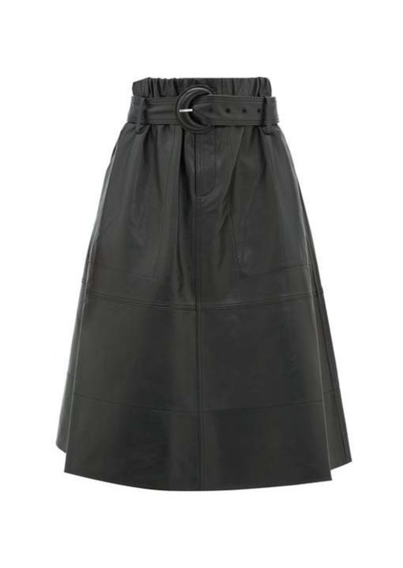 Proenza Schouler White Label High-rise belted nappa-leather skirt