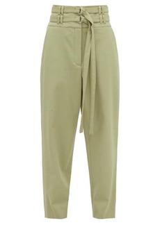 Proenza Schouler High-rise D-ring belt wool-blend trousers