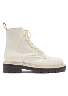 Proenza Schouler High-top leather combat boots