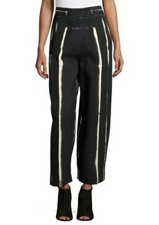Proenza Schouler High-Waist Wide-Leg Cropped Pants
