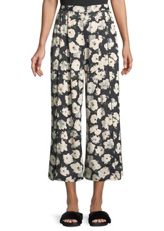 Proenza Schouler High-Waist Wide-Leg Matte Satin Crop Pants