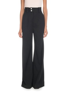 Proenza Schouler High-Waist Wide-Leg Stretch-Wool Pants