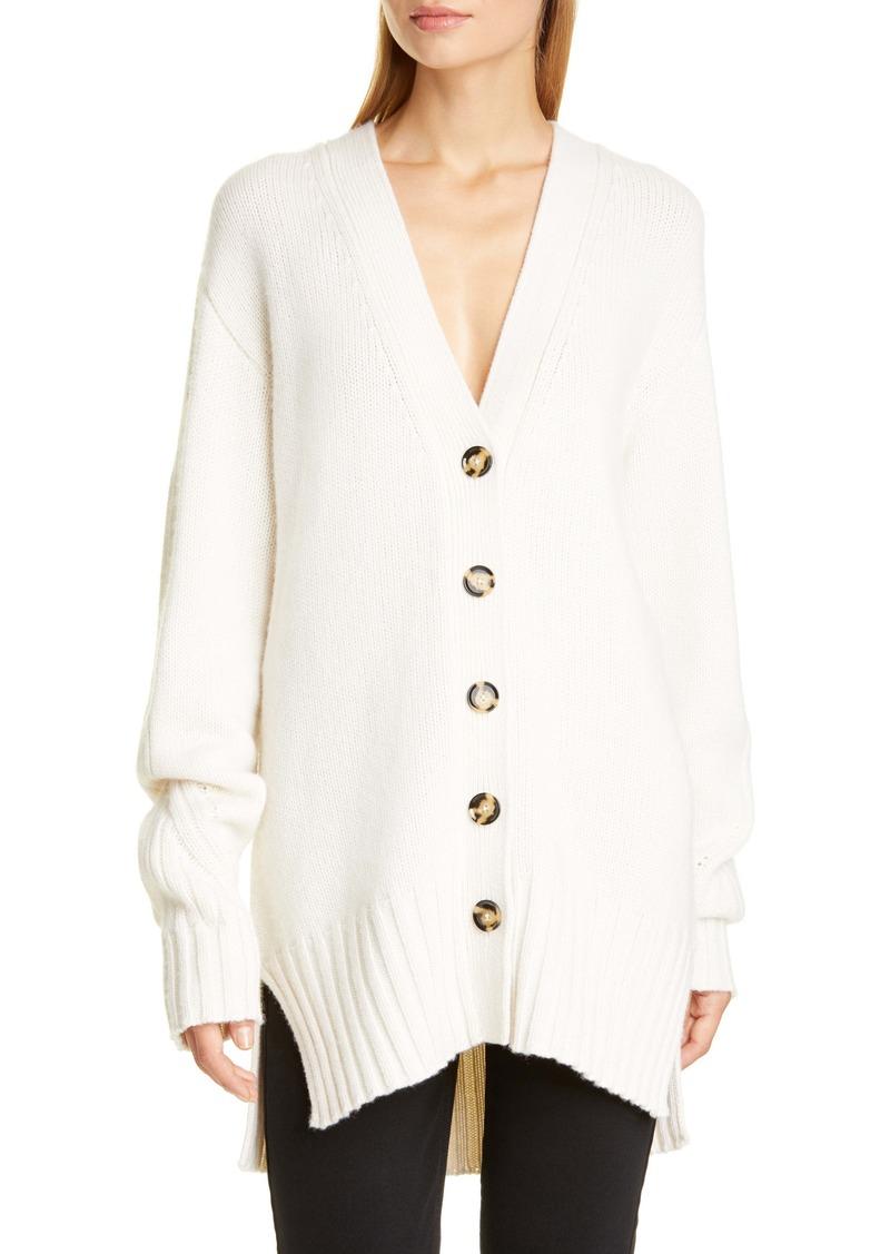 Proenza Schouler High/Low Oversize Cashmere Cardigan