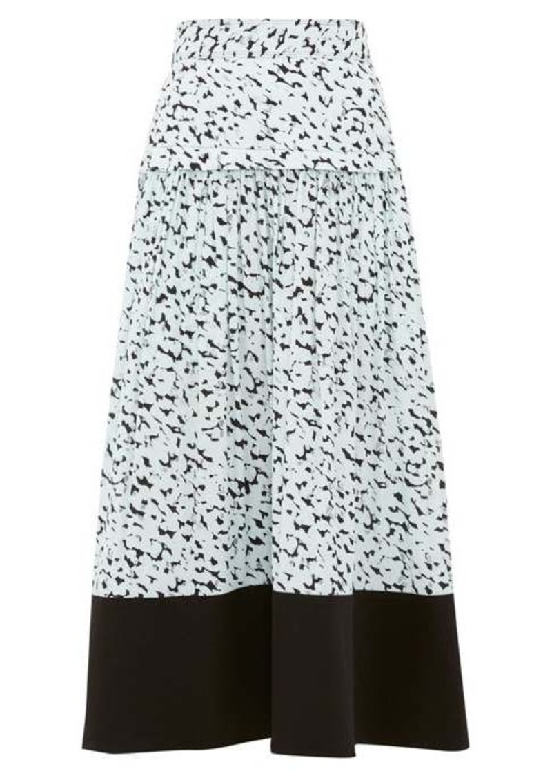 Proenza Schouler Inky leopard print crepe midi skirt