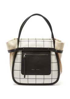 Proenza Schouler Inside Out canvas and leather tote bag