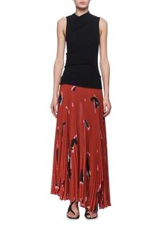 Proenza Schouler Jersey & Plisse Pleated Maxi Dress