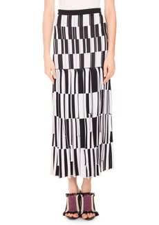 Proenza Schouler Knit Skirt-Pleated Jacquard
