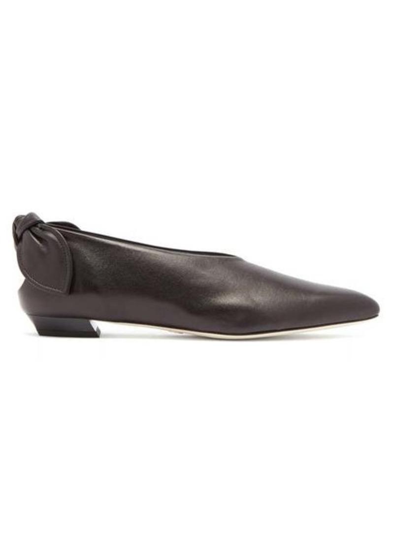 Proenza Schouler Knot-heel leather flats