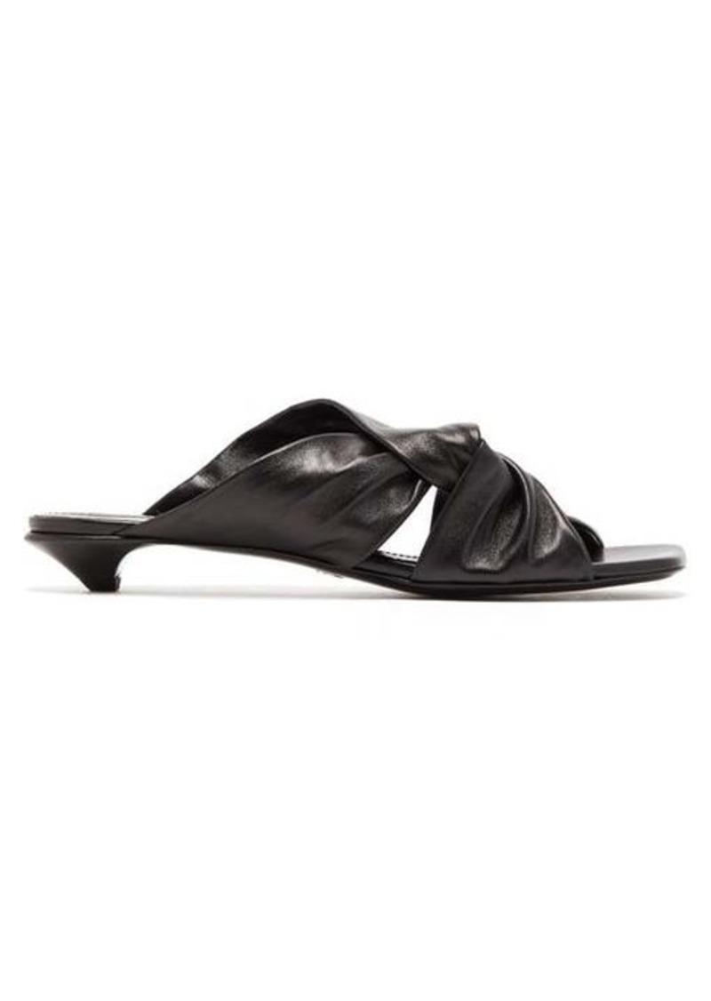 Proenza Schouler Knot square-toe leather mules