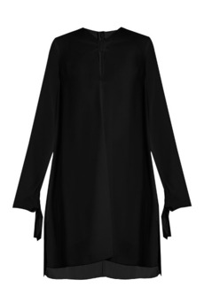 Proenza Schouler Knotted-front crepe dress
