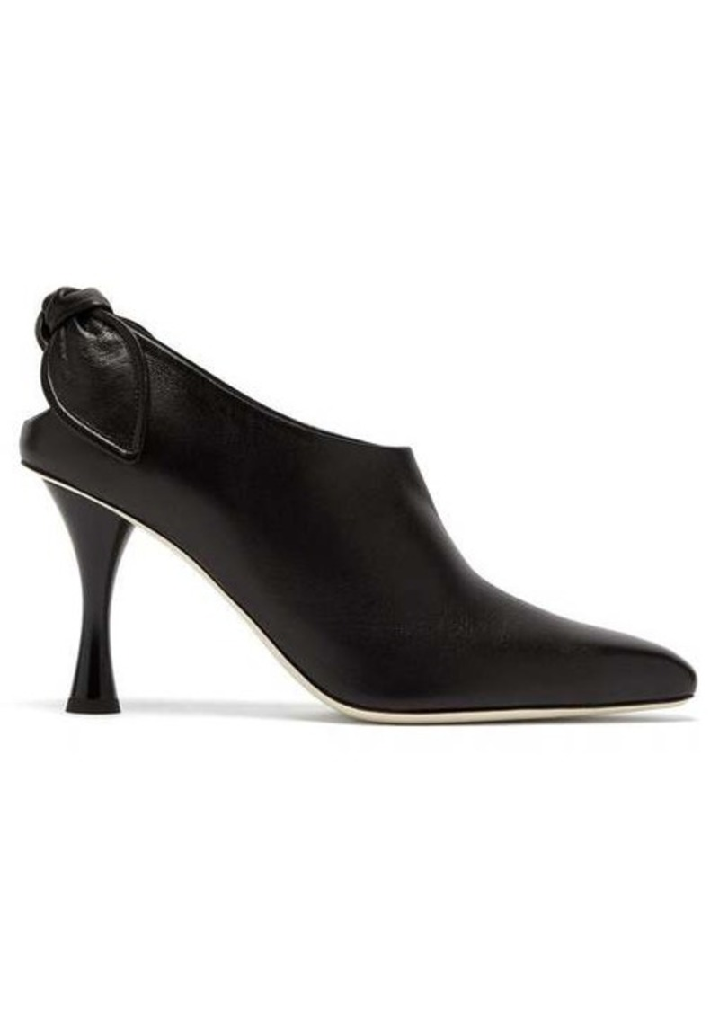Proenza Schouler Knotted leather ankle boots