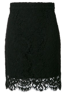Proenza Schouler lace-hem fitted skirt - Black