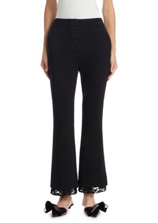 Proenza Schouler Lace-Trim Flared Pants