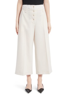 Proenza Schouler Lace Trim Stretch Wool Culottes