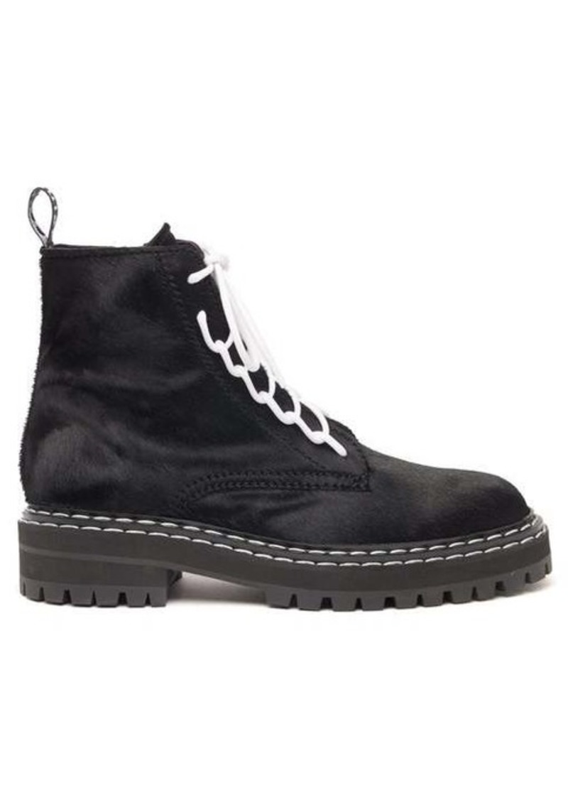 Proenza Schouler Lace-up calf-hair ankle boots
