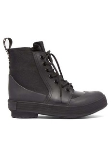 Proenza Schouler Lace-up rubber and canvas boots