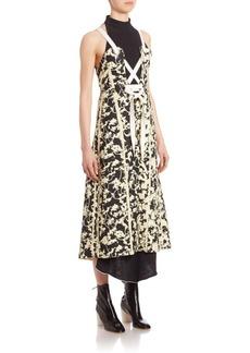 Proenza Schouler Lace-Up Sleeveless Printed Dress