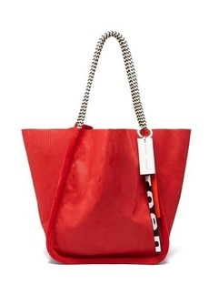 Proenza Schouler Large corduroy-effect suede tote bag