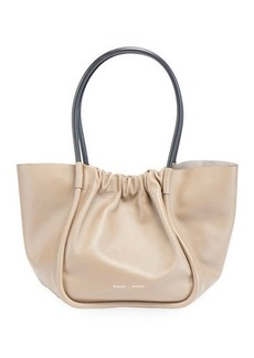 Proenza Schouler Large Ruched Smooth Leather Tote Bag