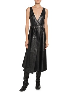 Proenza Schouler Leather Belted Wrap Dress