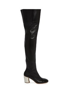 Proenza Schouler Leather curved-heel over-the-knee boots