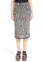 Proenza Schouler Leather Knit Pencil Skirt