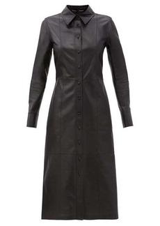 Proenza Schouler Leather midi shirt dress